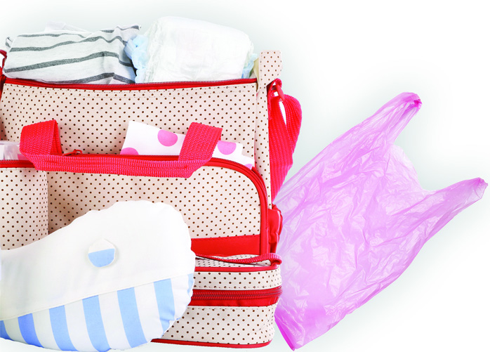 Plastic nappy bag and sack risk