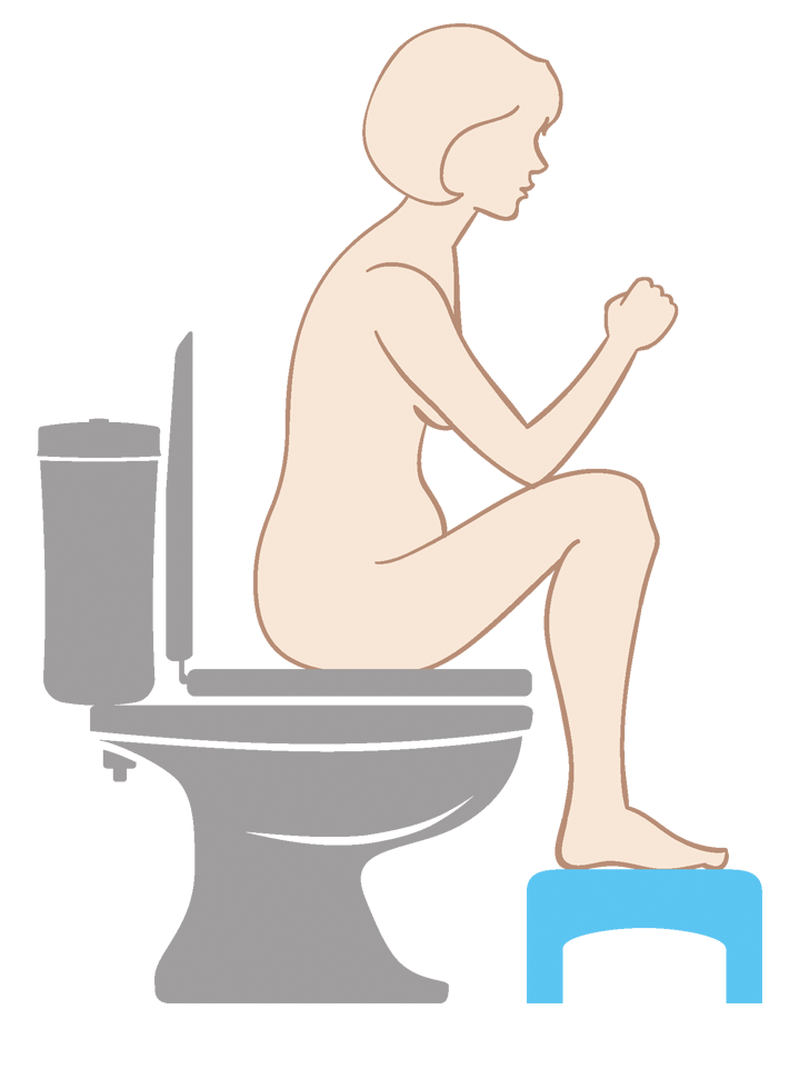Correct toilet position for pregnant women with constipation